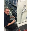 Servicing of office roller shelving